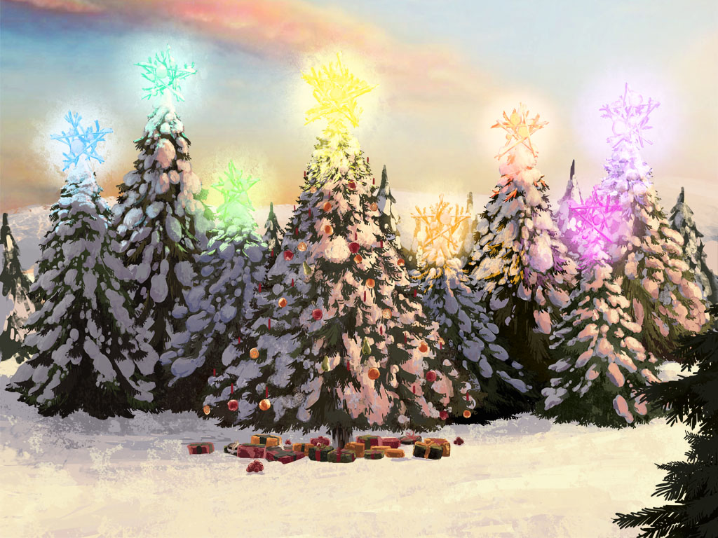 Background art for the John Lewis 2013 christmas capaign, the bear and Hare, ebook and print